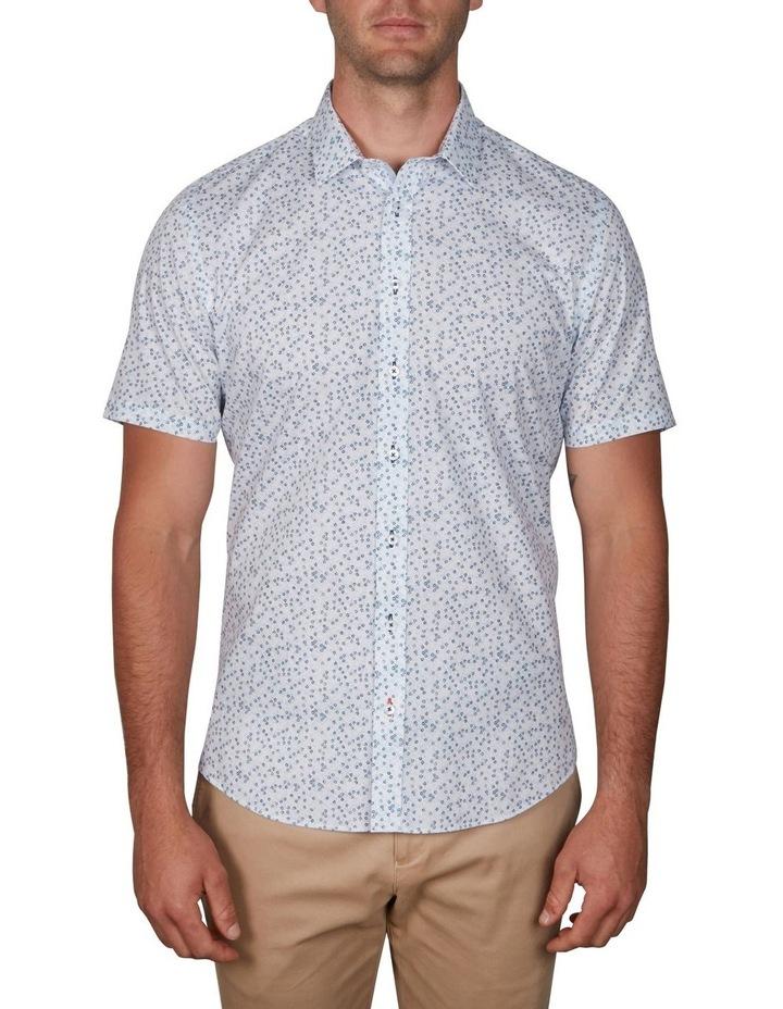 Floral Short Sleeve Business Shirt image 1