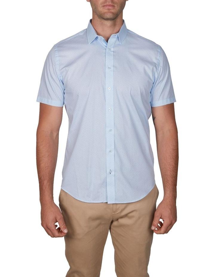 Grid Geo Print Short Sleeve Business Shirt image 1