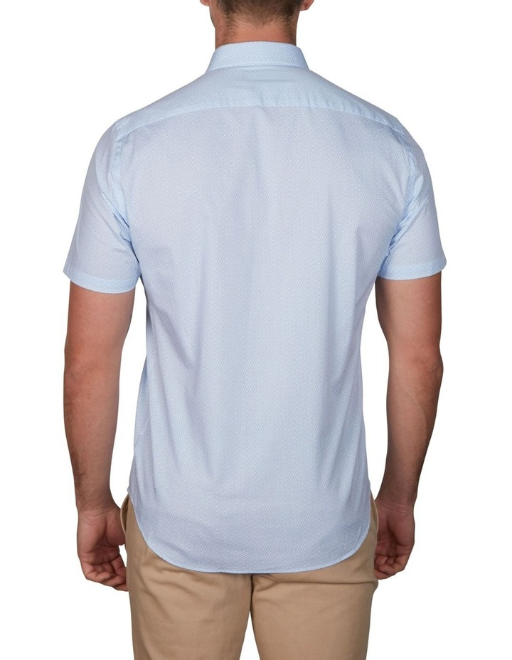 Grid Geo Print Short Sleeve Business Shirt image 2