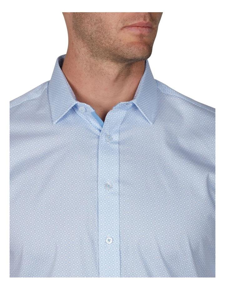Grid Geo Print Short Sleeve Business Shirt image 3