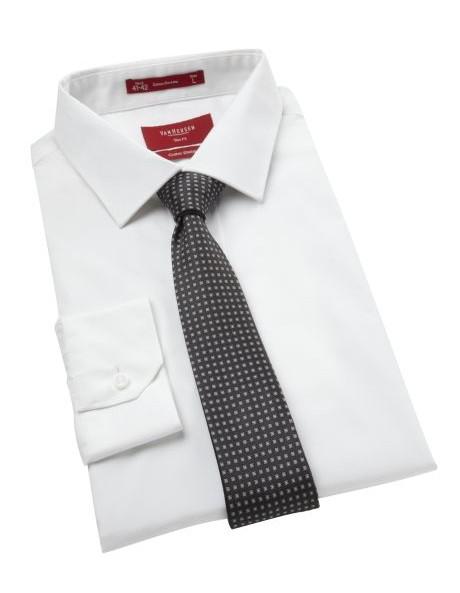 Slim Fit White Business Shirt image 1
