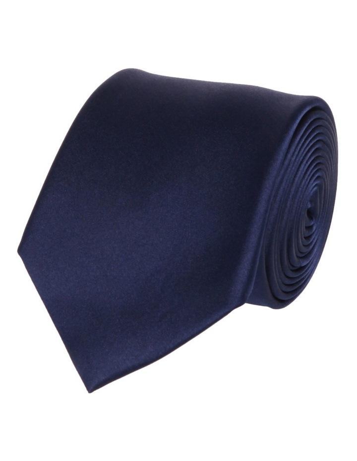 Wide Navy Silk Tie image 1