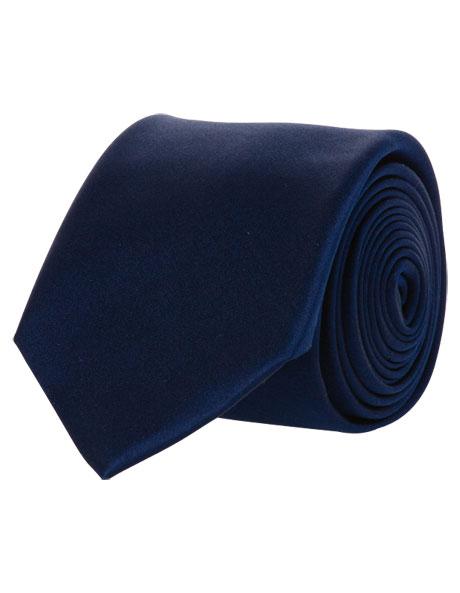 Wide Navy Silk Tie image 2