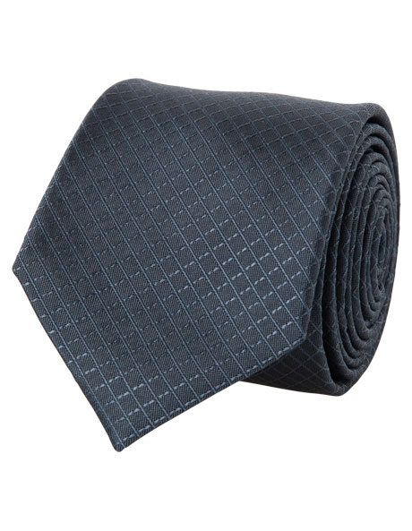 7cm Wide Charcoal Tie image 1