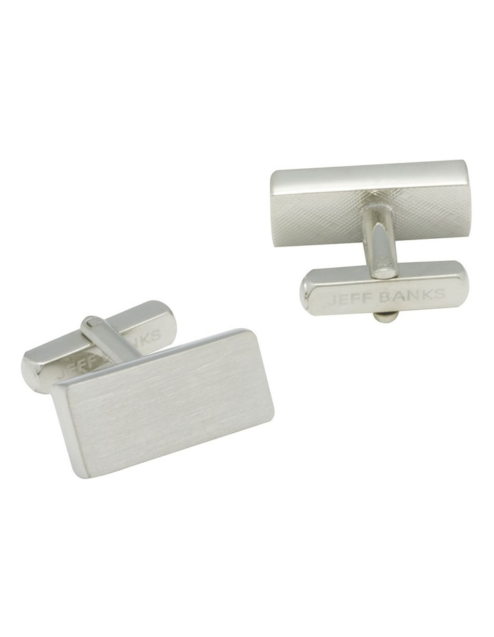 Rectangle Brushed Cufflinks image 4