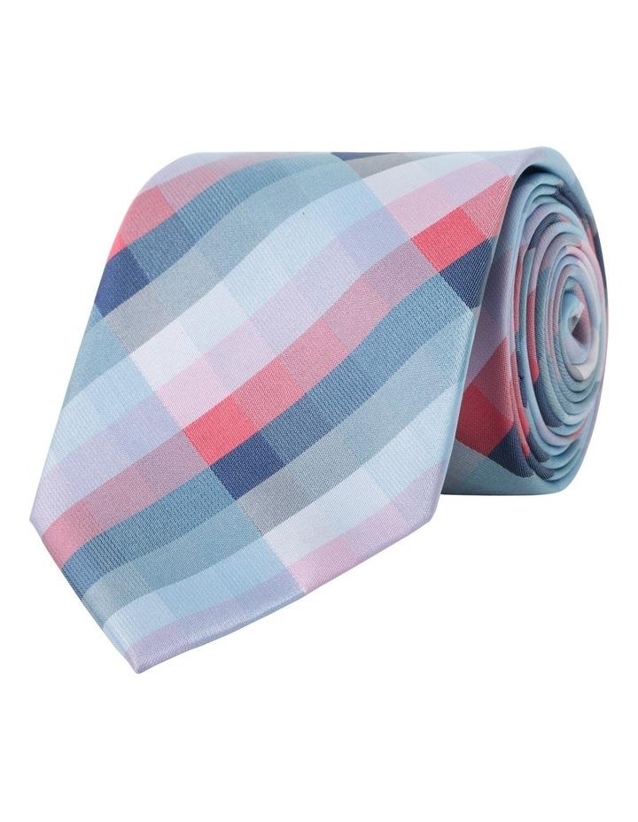Van Heusen Red Check Polyester Tie image 1
