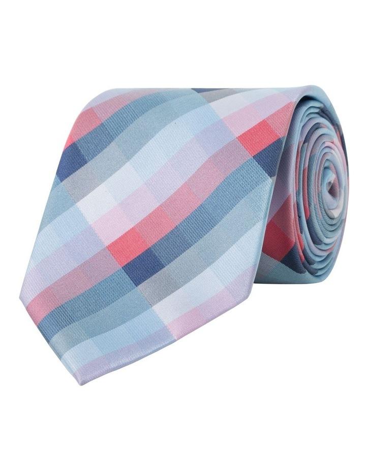Van Heusen Red Check Polyester Tie image 2