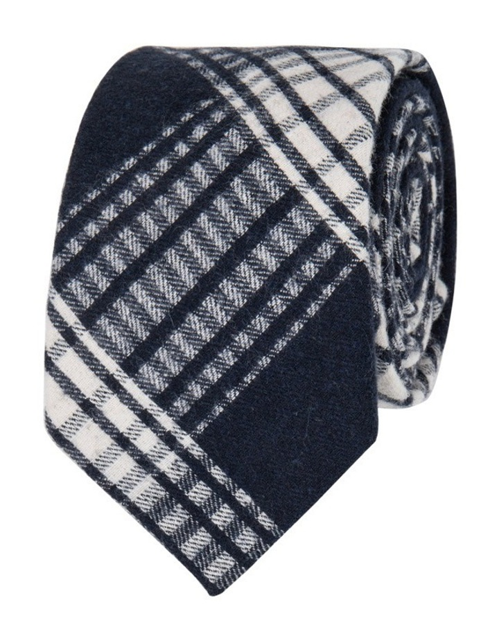 Gingham Check Silk Tie image 1