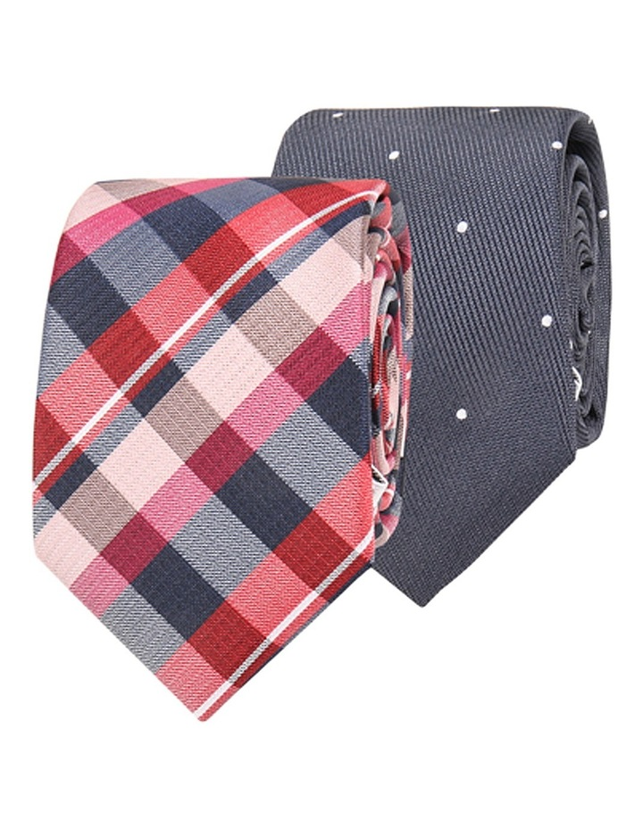 Jb Ivy League Poly Twin Tie Gift Pack Check And Spot image 1
