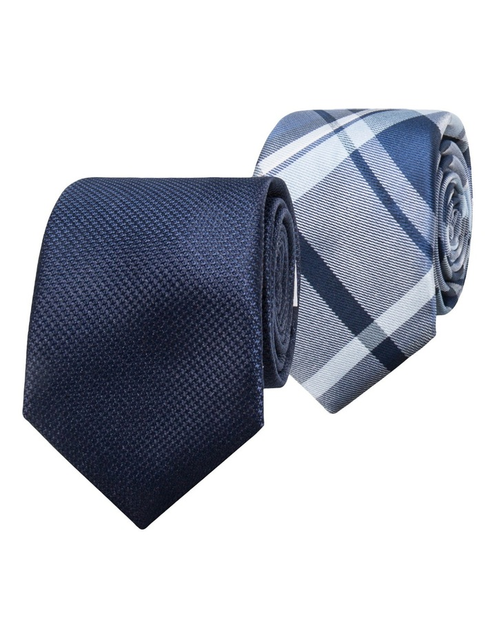 Navy/Navy Check 2 Pack Tie image 1