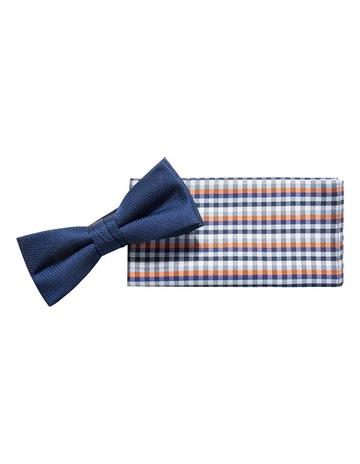 50ddcf7cc994 Jeff Banks Ivy LeagueOrange/Navy Plain Bow Tie/Pocket Square. Jeff Banks  Ivy League Orange/Navy Plain Bow Tie/Pocket Square