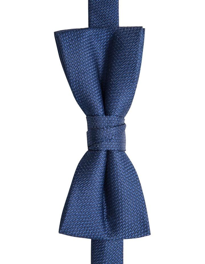 Orange/Navy Plain Bow Tie/Pocket Square image 4