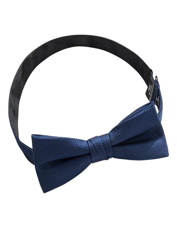 Orange/Navy Plain Bow Tie/Pocket Square image 5