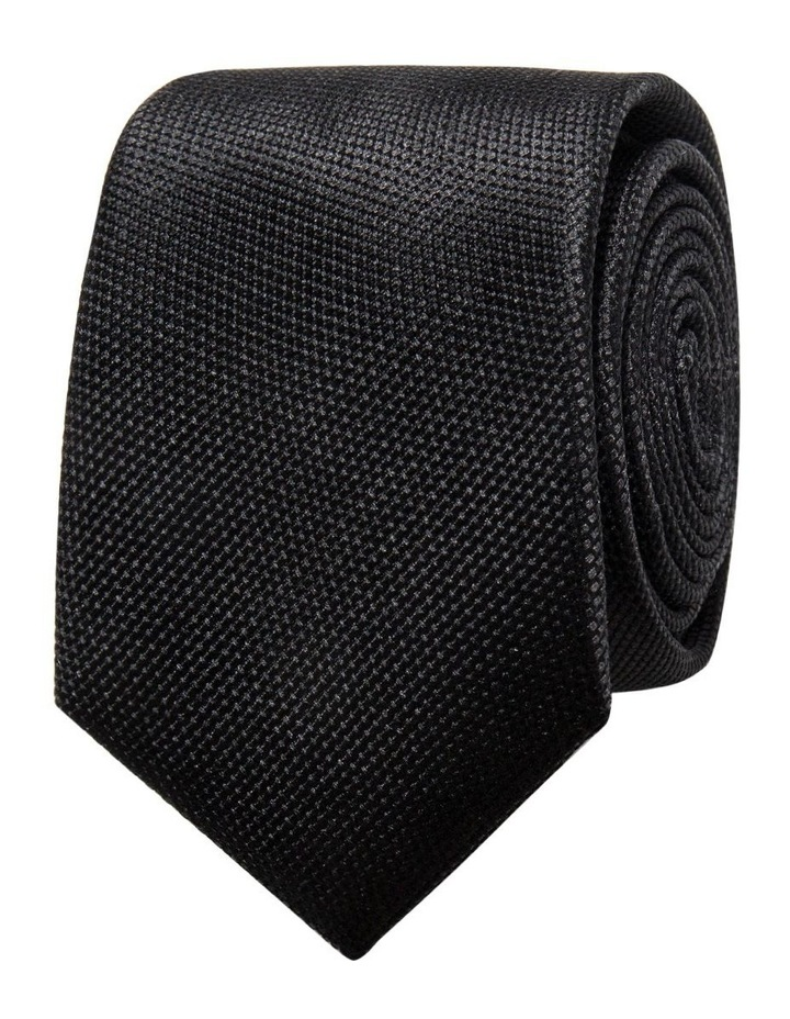 Black Plain Tie image 1