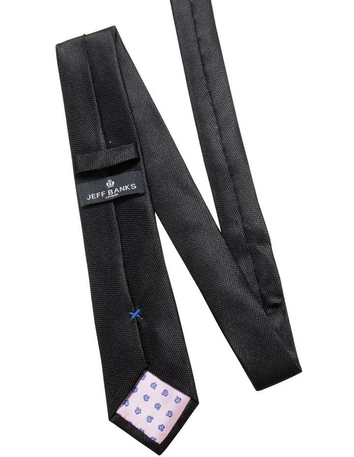 Black Plain Tie image 2