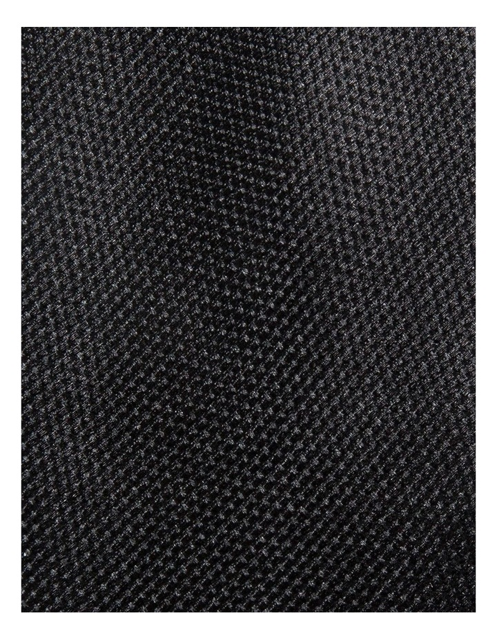 Black Plain Tie image 3