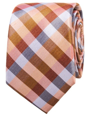 4529162ee195 Jeff Banks Orange Gingham Check Tie