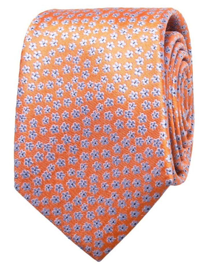 Floral Orange Tie image 1