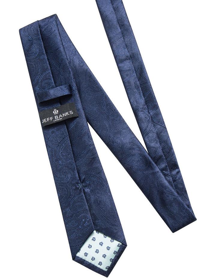 Silk Paisley Navy Tie JBSTW18117 image 2