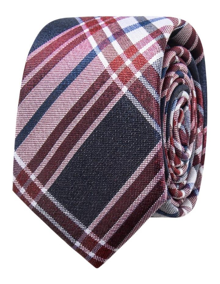 Silk Plaid Check Red Tie JBSTW18110 image 1