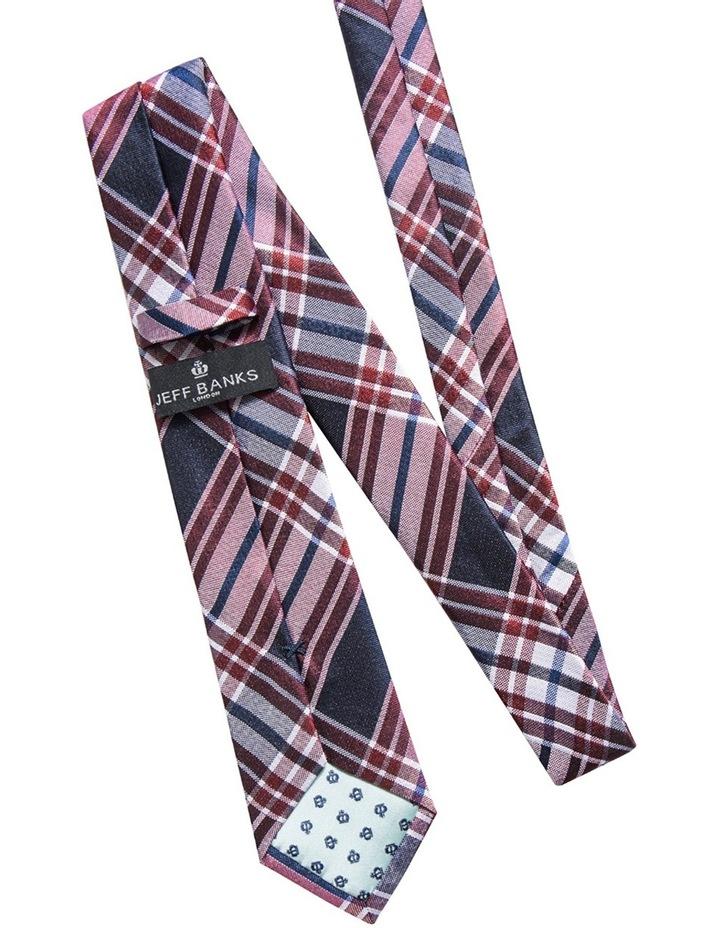 Silk Plaid Check Red Tie JBSTW18110 image 2