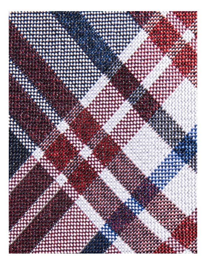 Silk Plaid Check Red Tie JBSTW18110 image 3