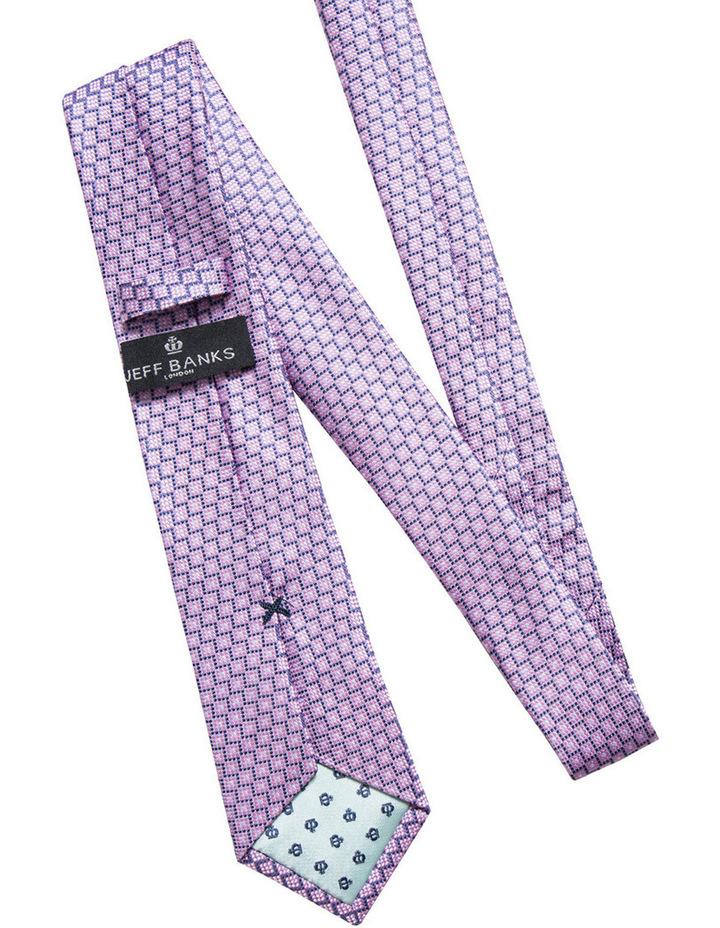 Silk Geometric Pink Tie JBSTW18102 image 2