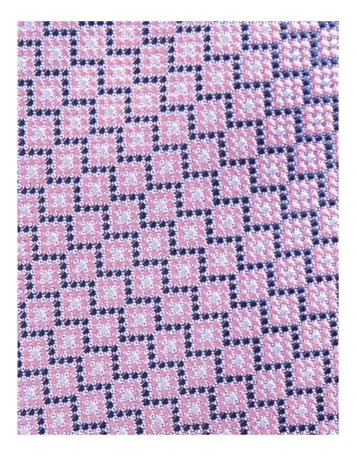 Silk Geometric Pink Tie JBSTW18102 image 3