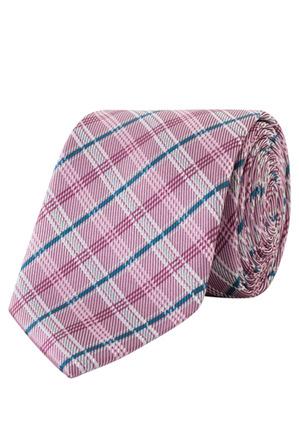 Van Heusen - Pink With Navy Check Poly Tie VT7PM412Z_CPCP
