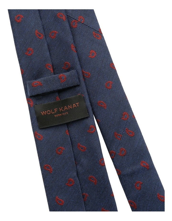 Navy / Red Paisley Tie image 4