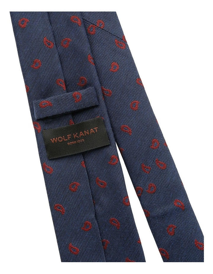 Navy / Red Paisley Tie image 3