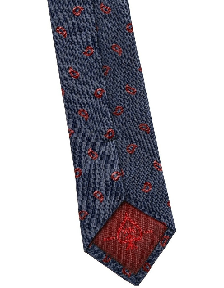 Navy / Red Paisley Tie image 5