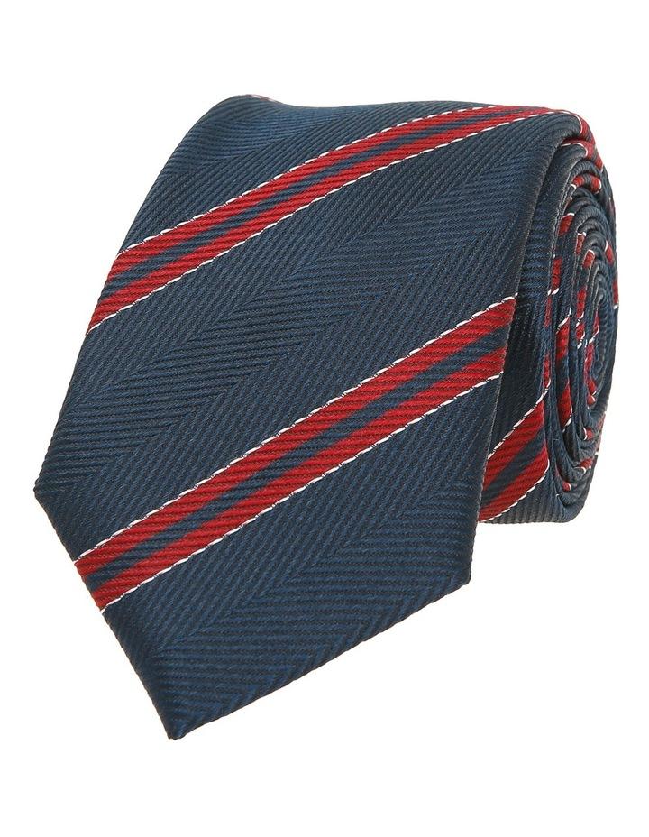 Navy / Red Stripe Tie image 1
