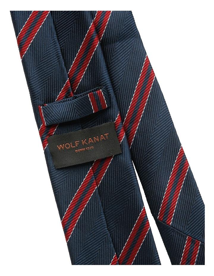 Navy / Red Stripe Tie image 2