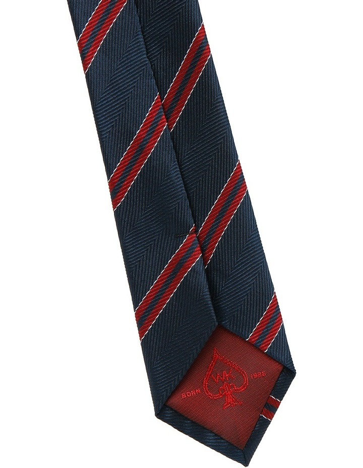 Navy / Red Stripe Tie image 3