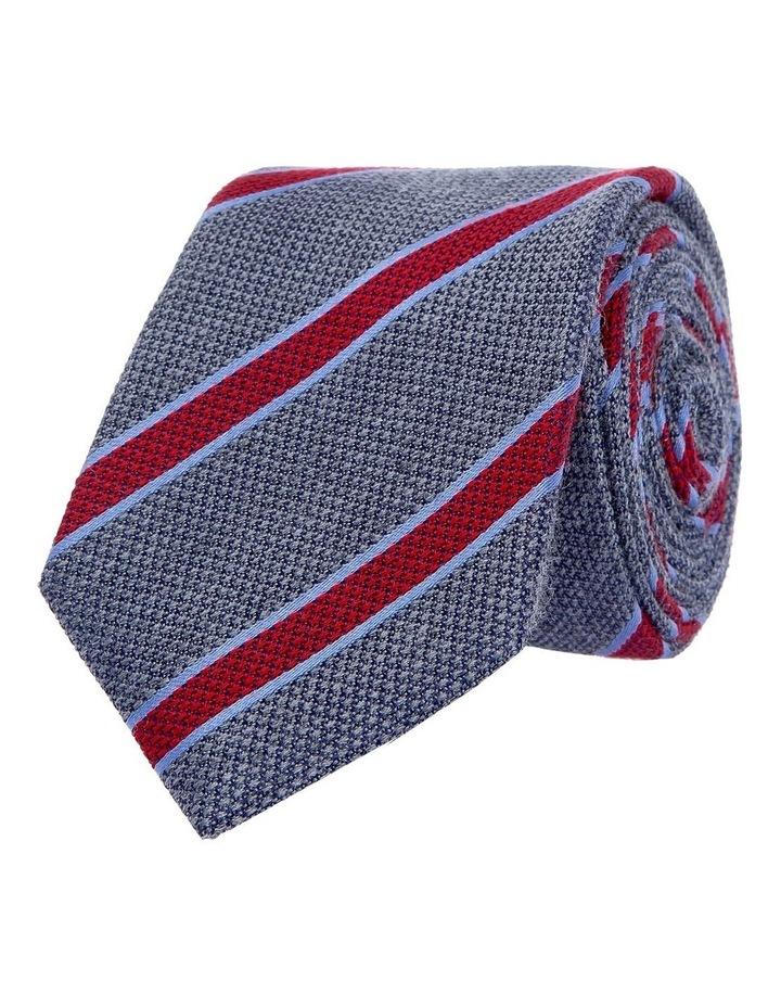 Grey/Multi Coloured Stripe Tie Koge 6cm image 1