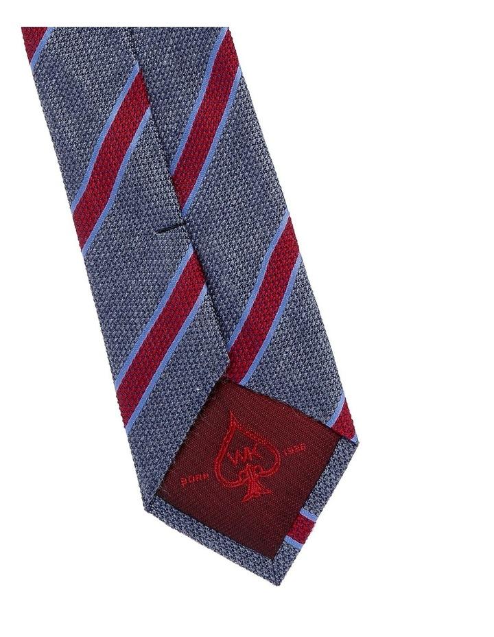 Grey/Multi Coloured Stripe Tie Koge 6cm image 3