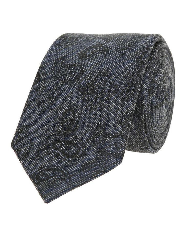 Navy Paisley Tie image 2