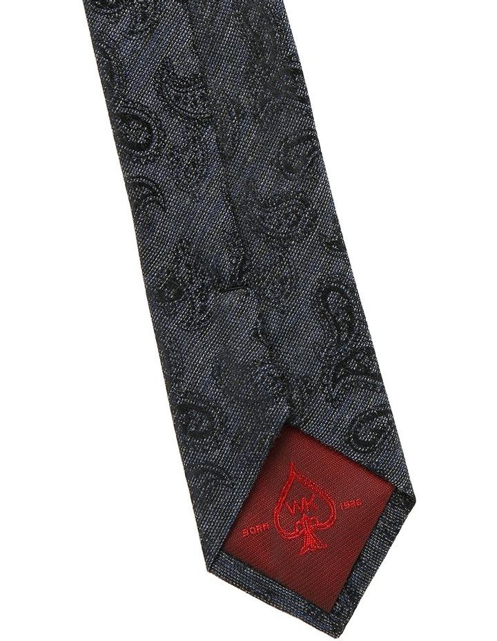 Navy Paisley Tie image 3