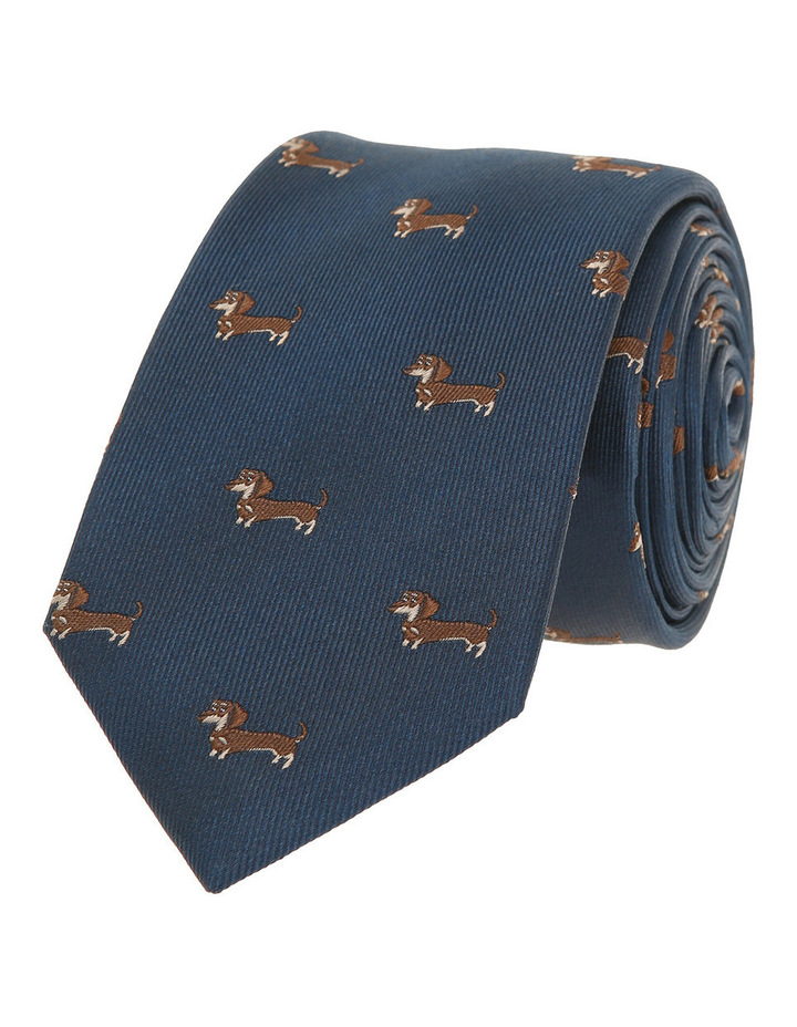 Navy / Brown Dog Tie image 1
