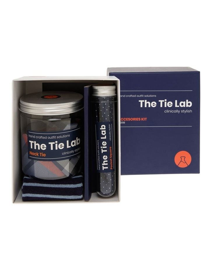 Tie Lab Tie, Pocket Square, Sock Gift Pack Red image 1