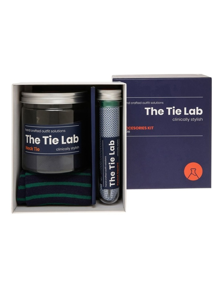 Tie Lab Tie, Pocket Square, Sock Gift Pack Green image 1
