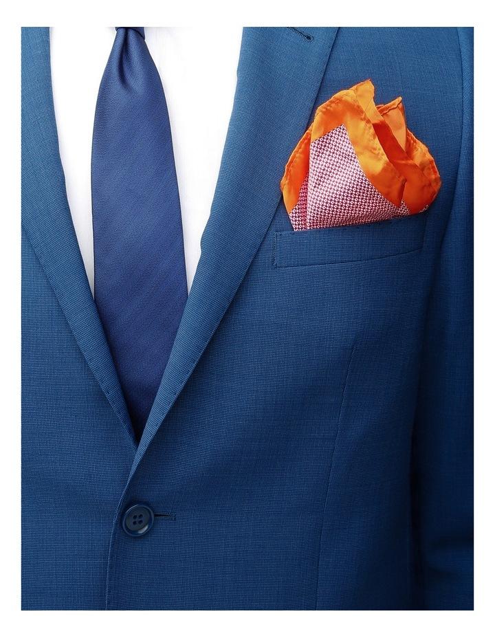 Poly Spot/Plain Tie Gift Pack Royal/Orange image 4