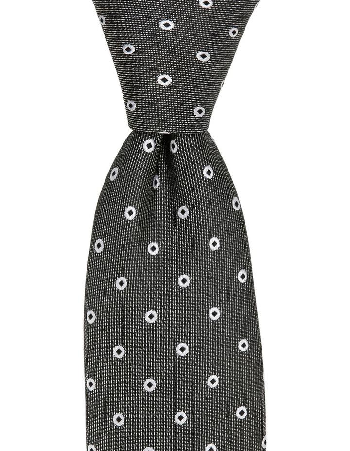 Poly Spot/Plain Tie Gift Pack Black/White image 2