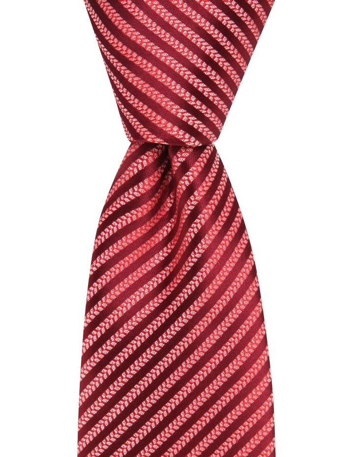 Poly Stripe Tie Red image 2