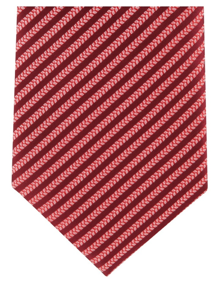 Poly Stripe Tie Red image 3