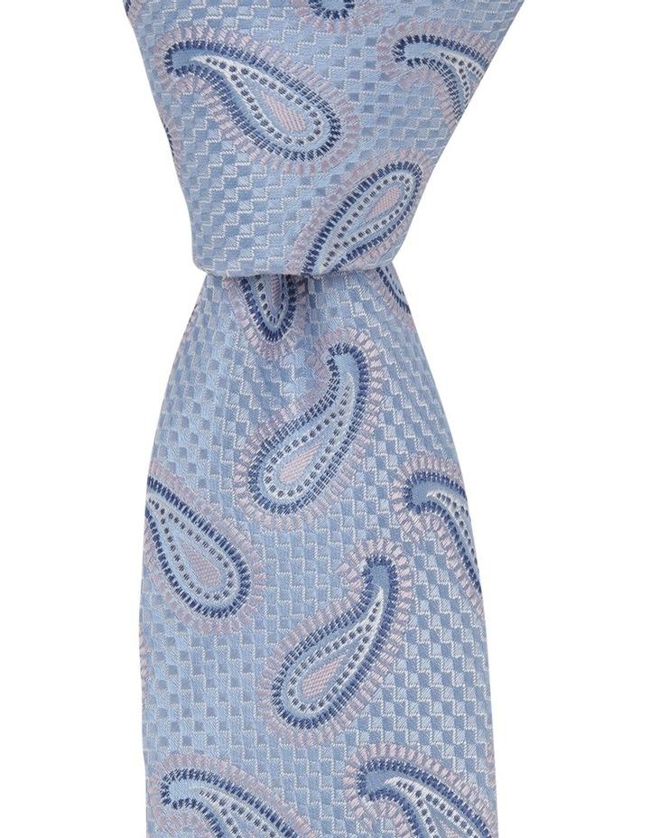 Poly Paisley Tie Blue image 2