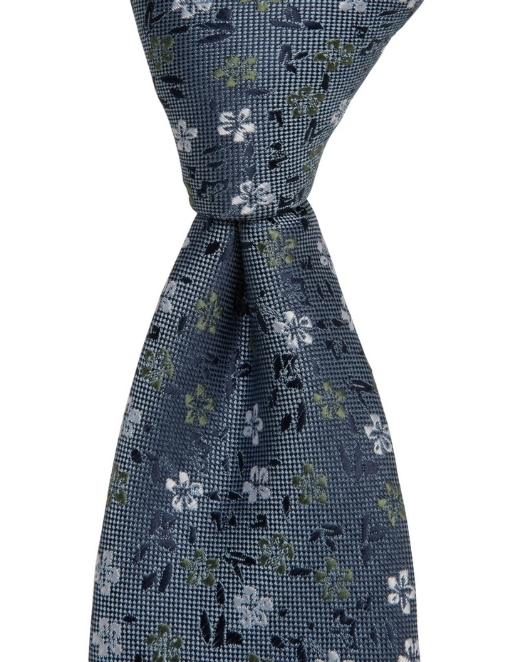 Poly Floral Tie Royal image 2