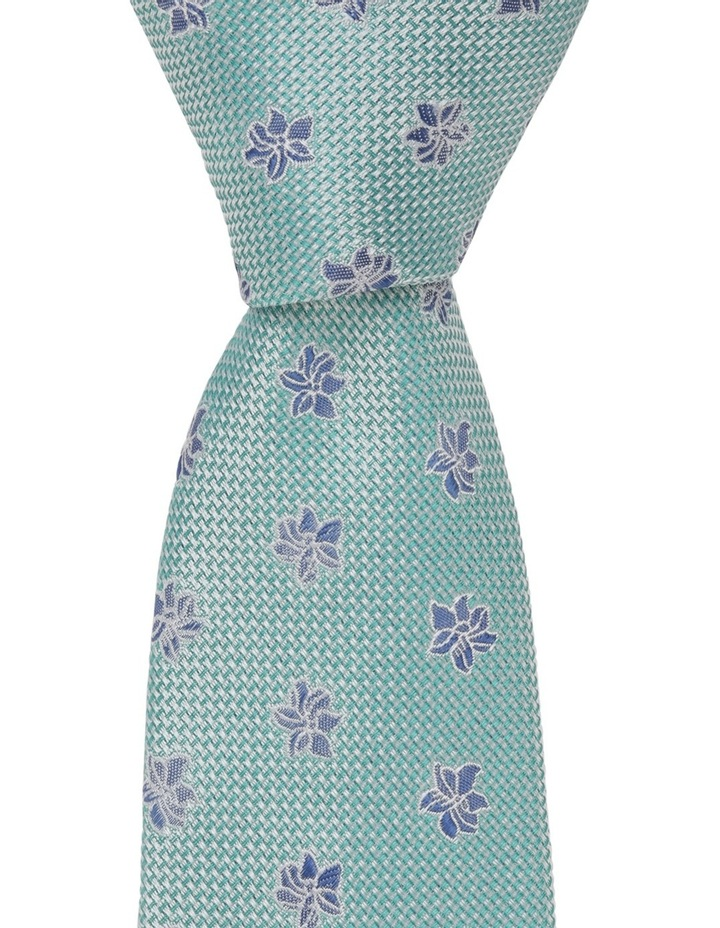 Poly Floral Tie Green image 2