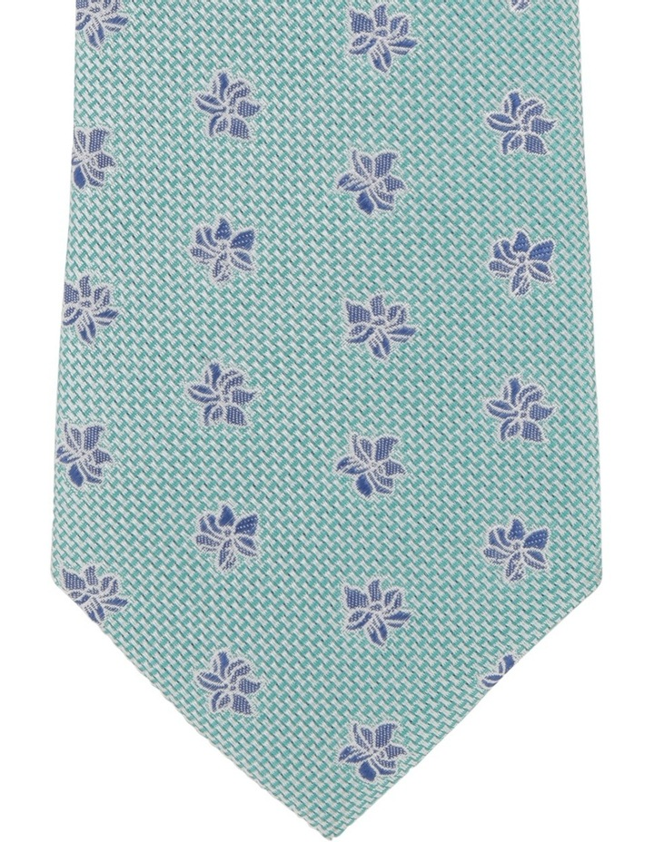 Poly Floral Tie Green image 3